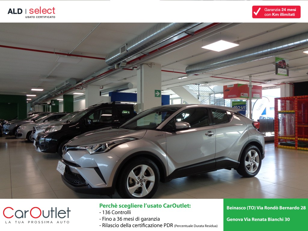 TOYOTA C-HR 1.8 Hybrid E-CVT Business Ibrida usata