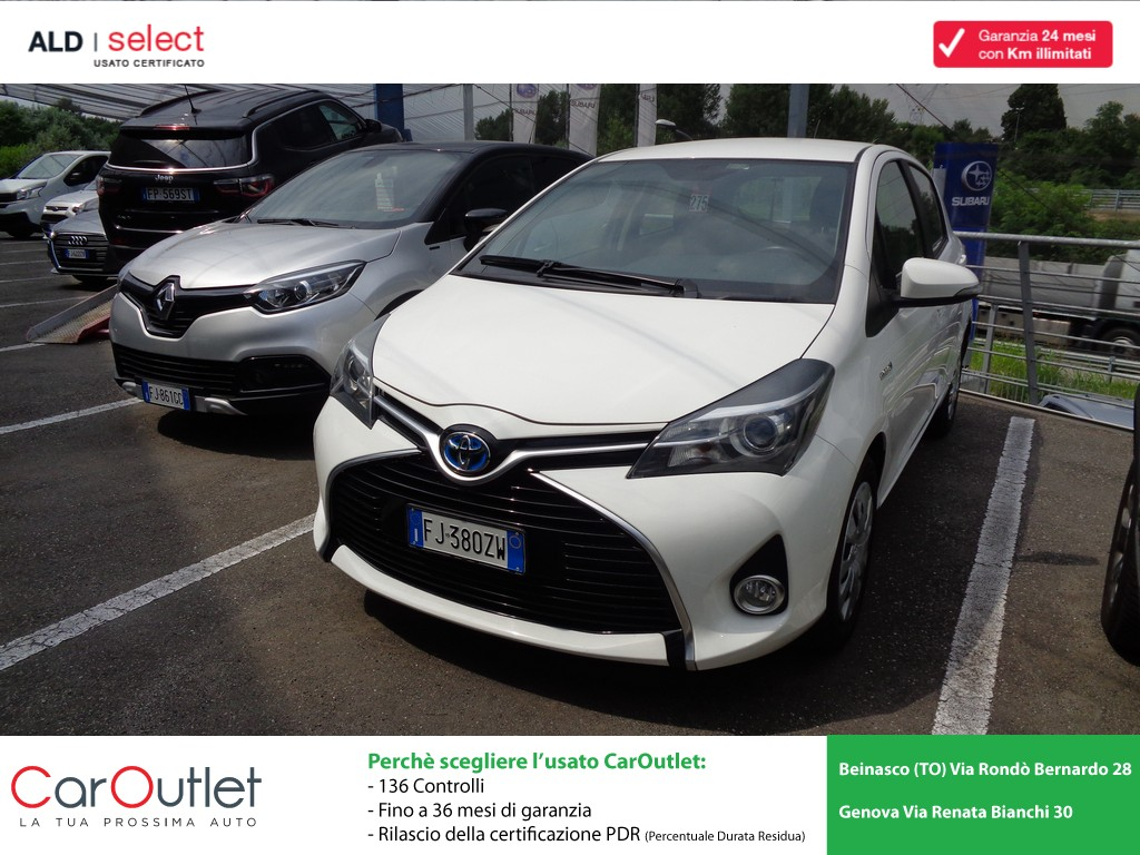 TOYOTA Yaris 1.5 Hybrid 5 porte Business Ibrida usata